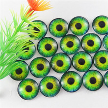 GraceAngie 15mm 20X Lizard Frog Dragon Eyes Round time gem Glass Cabochon Dome Cover Accessory for Cameo Cover Setting(China)