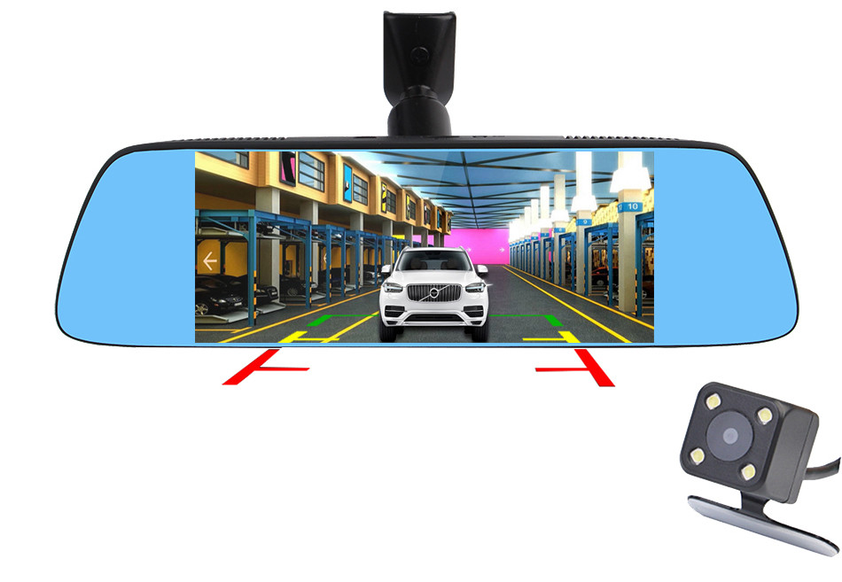 "Ruccess 7"" 3G Special Mirror Rearview Car DVR Camera DVRs Android 5.0 With GPS Navigation Automobile Video Recorder Dash Cam 22"