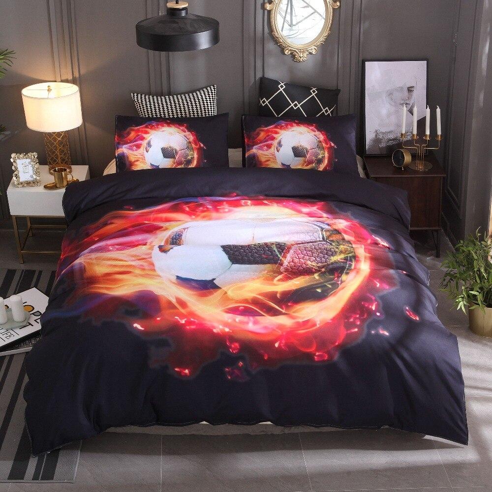 Pillowcase Bedding Twin Queen Size 3D Horse Duvet Cover Set Cotton Quilt Cover