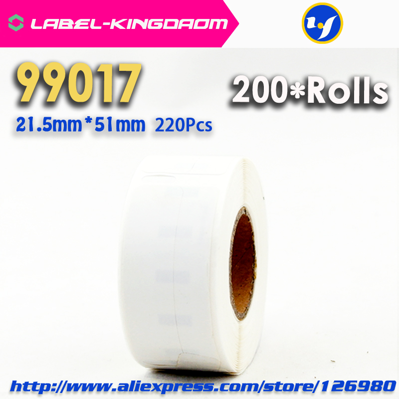 200 Rolls Dymo Compatible 99017 Label 21.5mm*51mm 220Pcs/Roll Compatible for LabelWriter 400 450 450Turbo Printer Seiko SLP-450
