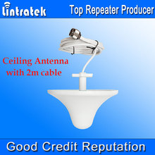 Wholesale! N Male Ceiling Internal Antenna 800-2700MHz Cell Phone Signal Repeater Indoor Antenna Mushroom Antenna 2m Cable /
