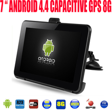 "7"" Capacitive car truck vehicel android gps navigation navigator tablet PC WIFI ddr3 512M 1.5GHZ 8GB  free newest gps global map"