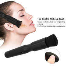 1pc Electric Makeup Brush 360 Degree Automated Rotating Powder Brush Head Professional Facial Cosmetic Make Up Brush Tool(China)