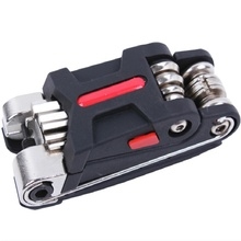 9.5*3.8*3.8CM 15 In 1 Bike Portable Multifunction Bicycle Repair Tools Steel Alloy/Advanced ABS C0022