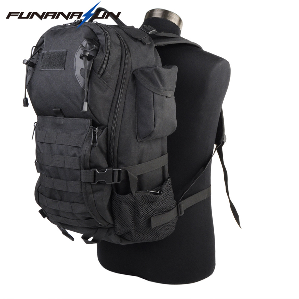 35L Outdoor Tatcical Molle Backpack Military Rucksack with Adjustable Strap Water Resistant Bag for Hiking Camping<br>
