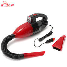 Red 60W 12V Car Power Portable Vacuum Cleaner Wet Dry Dual-use Super Suction Red Light Car Dust Collector Cleaning(China)