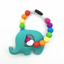 BPA FREE Silicone Carrier pendant toys-elephant teething toys-Silicone Baby rainbow TeetherToy or Accessory for Baby Carrier(China)