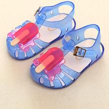 2017 Comfortable High Quality New Child Girl Toddler Summer Beach Flat  Jelly Shoes Princess Sandals Shoes Sweet And Lovely