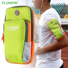 "FLOVEME 6.0"" Universal Arm Band Case For Samsung Galaxy Note 8 S8 Plus S7 S6 Edge For iPhone X 8 7 6s Plus Sports Running Bag"