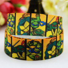 7/8'' (22mm) Teenage Mutant Ninja Turtles Cartoon Character printed Grosgrain Ribbon party decoration OEM 10 Yards X-00825(China)