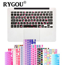"Big Font Unique Ultra Thin Silicone Keyboard Skin Cover for MacBook Pro 13"" 15"" 17"" iMac and MacBook Air 13"" Keyboard Stickers"
