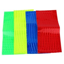 Fluorescent Bicycle Sticker Safety Reflective Sticker Strips Reflector Bike Wheel  Frame Strikers Outdoor Tool