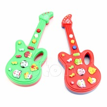 Baby Electronic Guitar Toy Nursery Children Kids Rhyme Developmental Guitar Toy W15