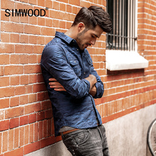 Buy SIMWOOD 2017 Camouflage Shirts Men Denim Slim Fit long sleeve military Shirt Male 100% Cotton Social shirt CC017022 for $25.49 in AliExpress store