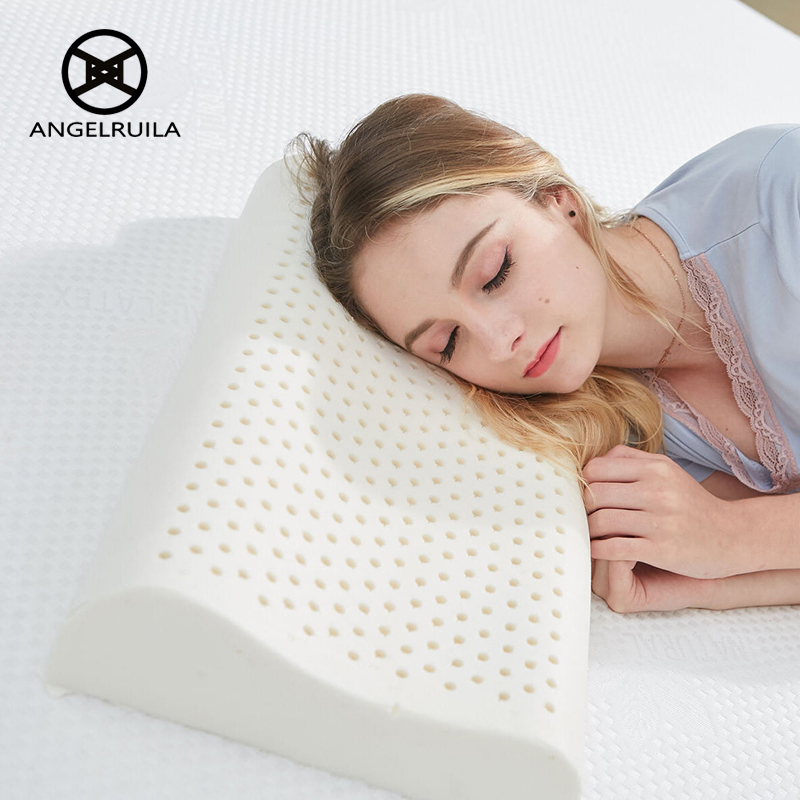 AngelRuila Neck Massager Pillow Natural latex Pillows For Cervical Spine Healthy Health Care For Students Children Good Sleep<br>