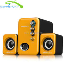 USB Powered Computer Speakers 2.1 Subwoofer For PC, Headphones, Acer, HP and more Desktop , Laptop & Multimedia Devices Yellow