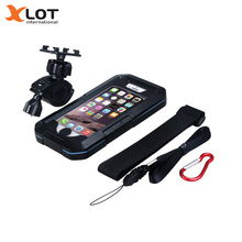 Waterproof Bike Phone Holder Motorcycle Bicycle Handlebar Phone Mount Bracket GPS Navigation Support For iPhone 5 6 6s 7 Plus(China)