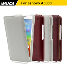 iMUCA Case for Lenovo A5000 leather case for Lenovo A5000 A 5000 Vertical Flip Cover Brand Mobile Phone Bags Cases Accessories