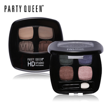 Party Queen Nude Matte Star Color Quad Eyeshadow Palette High Pigment Glamorous Eyes Makeup Smokey Glitter Shimmer Eye Shadow(China)