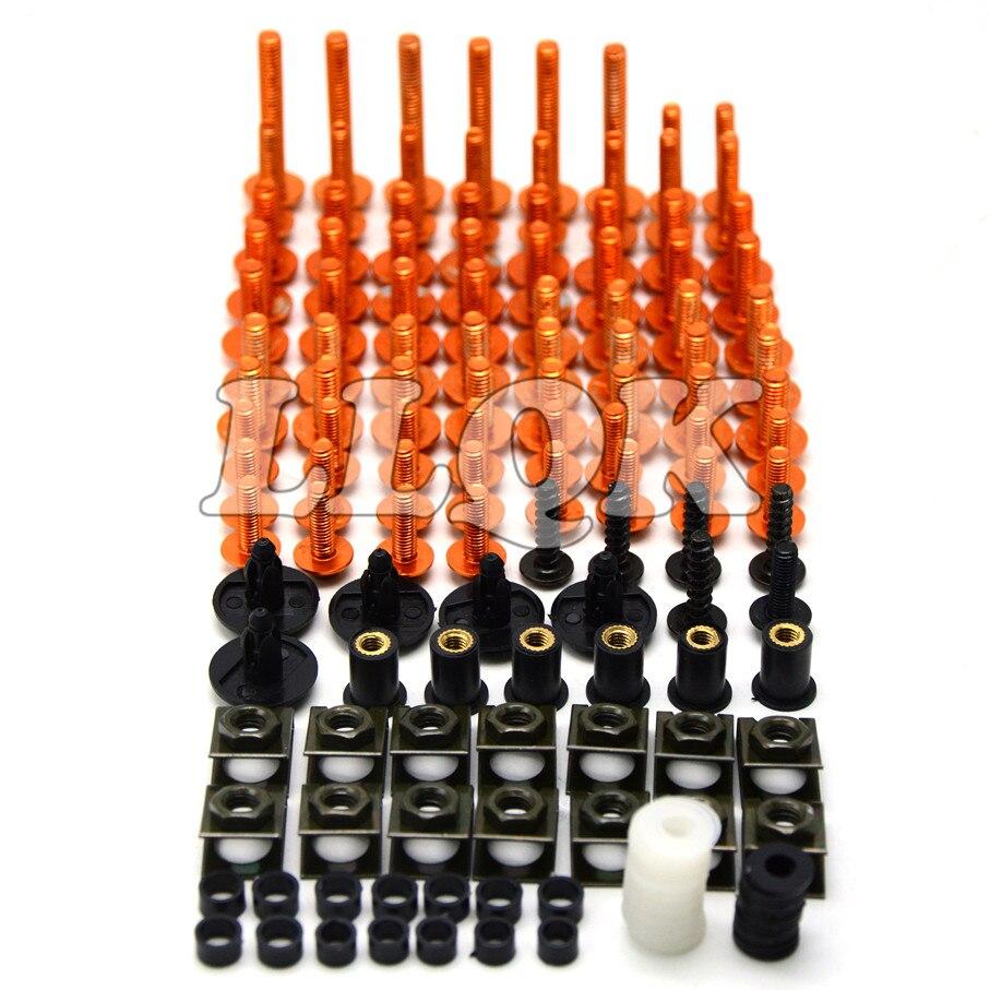 Universal CNC Motorcycle Fairing body work Bolts Fastener Clips Screws For kawasaki z750 z 750  z750 (non z750s) 2007-2012<br>