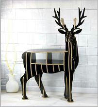 Elegant house decorations wood elk shelf L95*W38CM*H123CM(China)