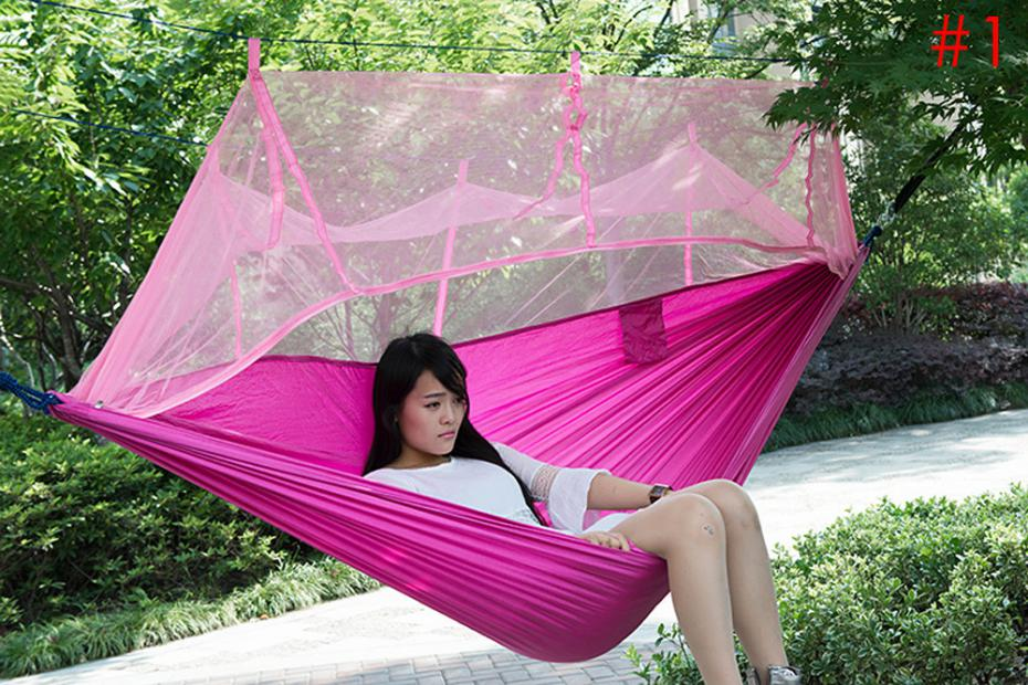2017 New Outdoor Hammock 250 x 130cm Single-person Mosquito Net Hammock Hanging Bed Outdoor Swing for Travel Camping Furniture<br><br>Aliexpress