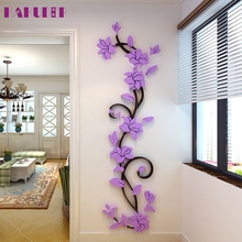 KAKUDER DIY 3D Acrylic Crystal Wall Stickers Living Room Bedroom TV Background Home u61213 DROP SHIP