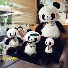 Dorimytrader New Jumbo 160cm Soft Cartoon Panda Plush Toy 63inches Large Stuffed Animal Pandas Doll Anime Pillow Baby Present