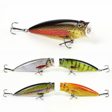 5 Color 9.5cm/16.2g Top Quality Popper Fishing Lure Top Water Fish Bait Hard Fishing Crankbait Vivid Wobbler Tackle Pesca HML05
