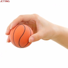 JETTING High Quality Mini Foam Ball Health Care 6.3CM Soft Basketball Orange Hand Wrist Exercise Stress Relief Squeeze Ball