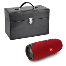 Travel Portable Splashproof Rechargeable PU Leather Case For JBL Xtreme Wireless Bluetooth Speaker Extra Space for Plug & Cables