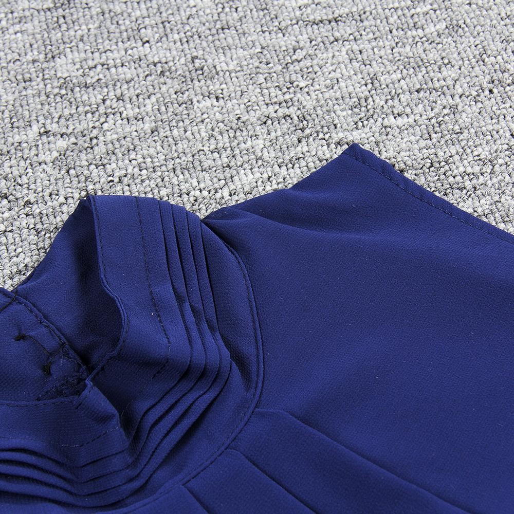 Women Chiffon Back Hollow Blouses Fashion 2017 New Beach Summer Sleeveless Tops Elegant Pleated Blusas Femininos Plus Size M0173 19