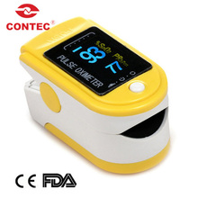 CE FDA CONTEC CMS50D color display fingertip pulse oximeter 6modes 4 directions wave form 6 colors finger pulse oximeter walmart