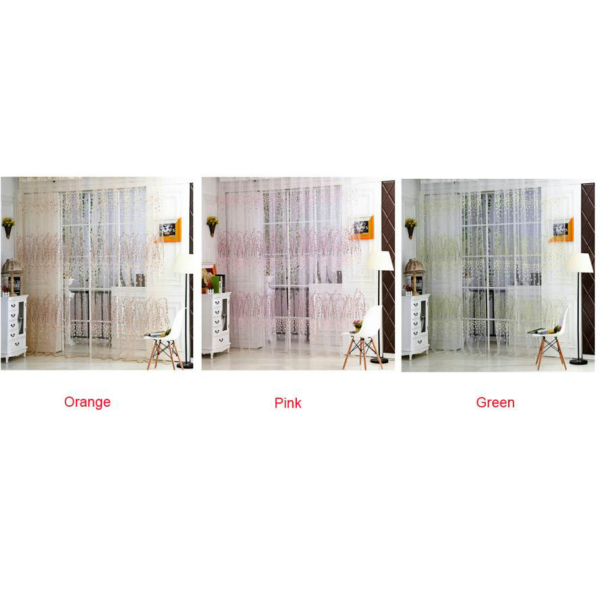 1 PC Tulle Door Window Curtain Drape Panel Sheer Scarf Valances (2)