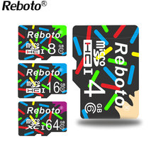 Reboto colorful memory cards tf card mini sd flash micro sd card 8GB 4GB 2GB class 10 For Smartphone Hot Selling(China)