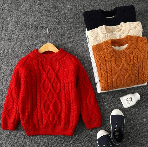 The children wear sweater boy girl baby cashmere sweater with thick color of winter<br>