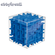 Abbyfrank Maze Magic Cube Puzzle Toy 3D Mini Speed Cube Labyrinth Rolling Ball Magicos Puzzle Game Learning Educational Toy(China)