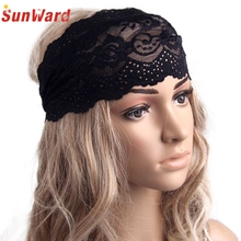 SunWard Good Deal Cheap 2017 New Style Fashion Gentlewomen Elastic Hair Band Vintage Cutout Lace Decoration Headband 1pc