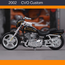 1:18 Maisto Model Motorcycle Toys, Simulation Alloy Assembled Harley 2002 CVO Custome Motor, Adult DIY Car Toy, Brinqyedos Gift