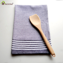 HAKOONA  2 PCS Blue Striped Table Napkins  100% Cotton  Kitchen Tea Towels  50*73cm Table Placemats