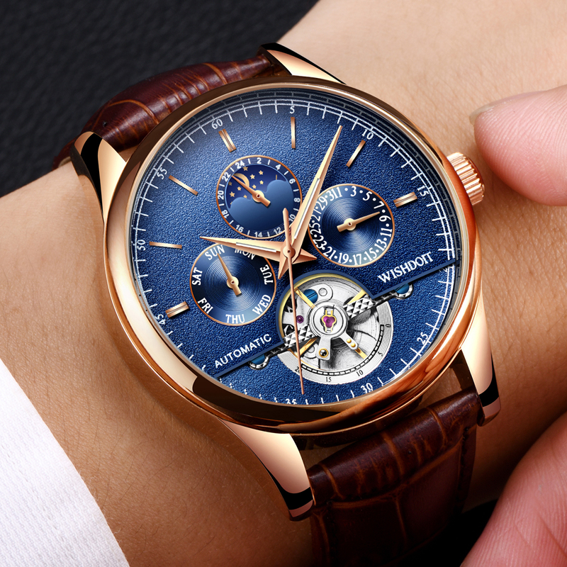 WISHDOIT Men Top Luxury Luxury Fashion Casual Sport Business Mens Waterproof Mens simulation quarzt Watch Military male Clock <br>