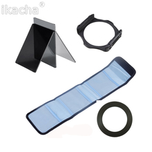 Complete Square ND2 4 8 Filter lens Camera Set+49 52 55 58 62 67 72 77 82mm for Cokin P Series Ring Adapter Holder(China)