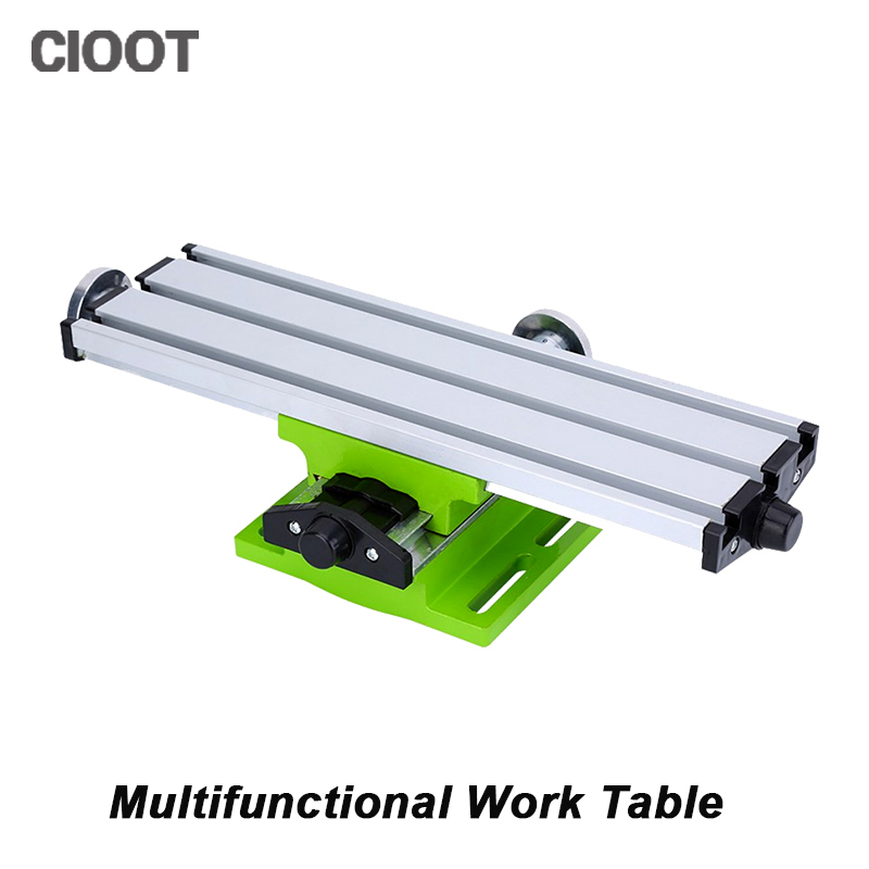 CNC Miniature Precision Multifunction Milling Machine Worktable X Y-axis Adjustment Coordinate Table Bench Drill Vise Table Tool<br>