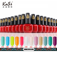 China best seller highest quality KASI brand soak off gel color gel UV polish 15ml for nail art 145-156 colors