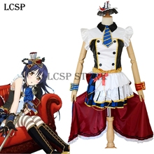 LCSP LoveLive! Coffee Shop Sonoda Umi Cosplay Costume Japanese Anime Love Live Cafe maid Uniform Suit Clothes Dress & Headwear(China)