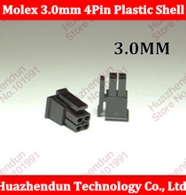 30PCS ATX / EPS PCI-E Molex 3.0mm 2*2pin 4Pin 43645-0400 Male Power Connector Housing Plastic Shell
