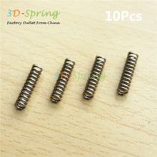 10Pcs High quality Stainless steel Reprap Extruder Spring 0.8*5*20*13 mm For 3D Printer Accessories