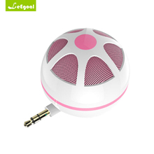 Leegoal Portable 3.5mm AUX Audio Jack Mini Wireless Round Speaker Mini Speaker for Mobile Phone PC Computer Game Speakers Cute(China)
