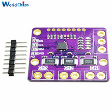 1Set I2C SMBUS INA3221 Triple-Channel Shunt Current Power Supply Voltage Monitor Sensor Board Module Replace INA219 With Pins