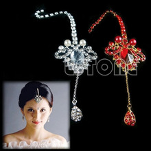 Bridal Princess Crystal Frontlet Pendant Wedding Prom Hair Accessory Headwear